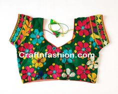 Indian Traditional Kutchi Blouse- Traditional Readymade Embroidered Blouse
