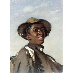 A Negro, Head And Shoulders by Frank Buchser Men Art Print