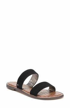 2022302cc44 Sam Edelman Gala Two Strap Slide Sandal (Women) Slide Sandals
