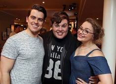 Scott Paige,Carrie Hope Fletcher and Oliver Ormson Carrie Hope Fletcher, Role Models, I Movie, Carry On, Actors & Actresses, Theatre, Musicals, My Love, Wall