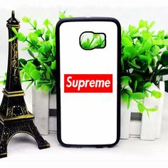 Supreme Logo White Red Samsung S6 Edge Cases haricase.com