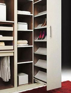 Small closets can be tricky. Here are some clothing storage and closet organization ideas for campers, motorhomes, travel trailers, or small apartments Bedroom Closet Design, Bedroom Wardrobe, Wardrobe Design, Wardrobe Closet, Closet Designs, Master Closet, Closet Space, Walk In Closet, Best Closet Organization