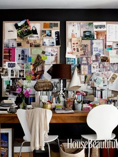 Home office wall...inspiration board...