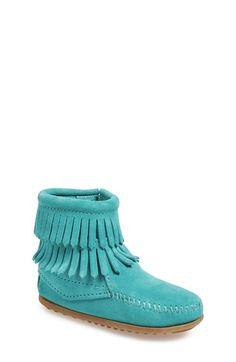 Minnetonka 'Double Fringe' Boot (Walker, Toddler, Little Kid & Big Kid) available at #Nordstrom