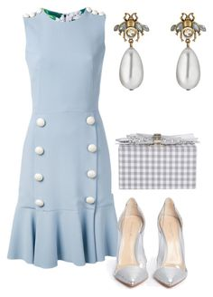 """Без названия #2686"" by claire-hamilton-bristol on Polyvore featuring мода, Dolce&Gabbana, Gianvito Rossi, Edie Parker и Gucci"