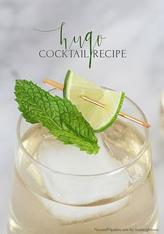 Delicious Hugo Cocktail Recipe. Champagne Elderflower German Cocktail - House of Hipsters for livelaughrowe.com