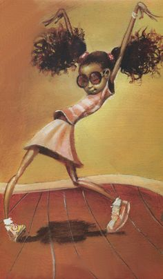 Frank Morrison | African American painter | The Urban Jazz...look at her dancing w/ her over-sized Afro puffs!