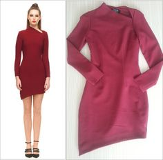 Futuristic Long Sleeve Cut Away Neck Dress