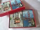2 DECKS PLAYING CARDS DOUBLE SET SAN FRANCISCO TROLLY CAR & BRIDGE CALIFORNIA