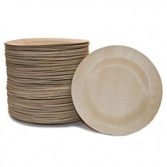 For eco-friendly friends: Sustainable bamboo plates!