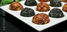 Bilute aperitiv cu branza  www.adygio.com Mozzarella, Bacon, Ethnic Recipes, Food, Essen, Meals, Yemek, Pork Belly, Eten