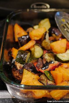 low carb oven-roasted vegetable medley - suitable for keto, paleo, atkins diet