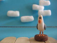 Finding Nemo, Polymer Clay, Seagull figurine. $14.00, via Etsy.