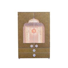 Designer Wooden Mandir with Doors / Pooja Mandir with Shutters and Jali Pooja Room Design, Modern Materials, Wooden, Room Design, Pooja Rooms, Ceiling Lights, Glass Decor, Clear Glass, Shutters