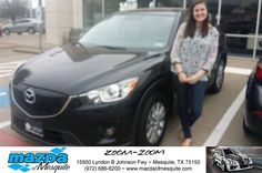 https://flic.kr/p/EzHhqq | Happy Anniversary to Nichelle on your #Mazda #CX-5 from Ken Gilbert at Mazda of Mesquite! | deliverymaxx.com/DealerReviews.aspx?DealerCode=B979