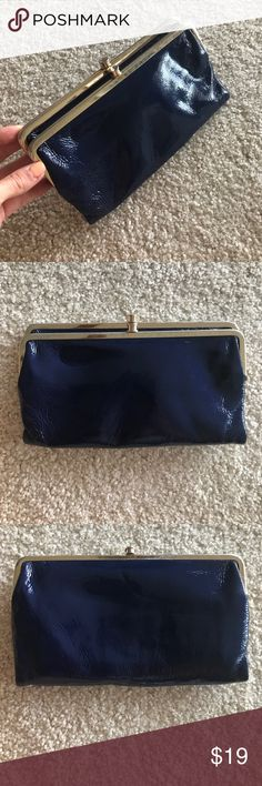Classic Hobo Wallet in Navy Patent Leather Navy patent leather hobo wallet. Well used, see photos for details. HOBO Bags Wallets