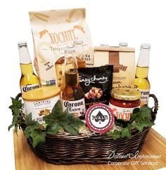 Corona Beer and Snacks Gift Basket is the perfect gift for summer, Father's Day or a college grad. This basket is loaded with snacks that pair well with beer. Coffee Gift Baskets, Gift Baskets For Him, Themed Gift Baskets, Wine Gift Baskets, Margarita Gift Baskets, Champagne Gift Baskets, Malta, Creative Gift Baskets, Bachelor Gifts