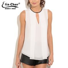 Barato Mulheres blusa 2016 mulheres Tops Chiffon blusas Eliacher marca Plus Size roupas femininas Chic elegante senhora Shirts Tops, Compro Qualidade Blusas diretamente de fornecedores da China: