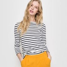 Cotton Long-Sleeved Breton T-Shirt R essentiel - Clothing