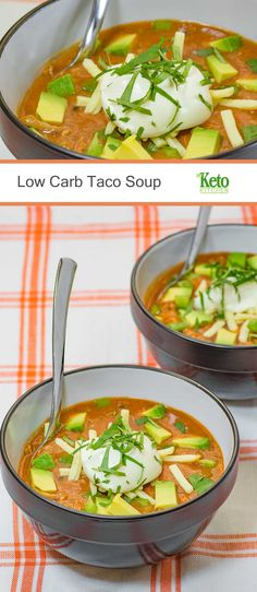 A mild dish with an intense punch of flavor; that's how we describe our Low Carb Taco Soup. It's a perfect dish for a mid-week meal.