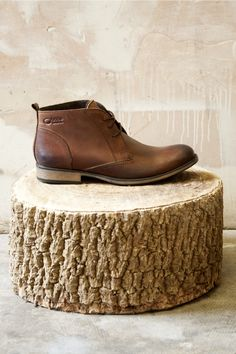Base Men's Leather Boots Penn Burnish Brown