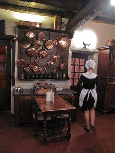 Rustic restaurant in Pérouges, near Lyon France