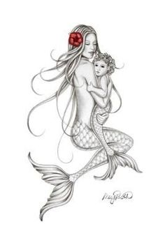 Mermaid Drawings, Mermaid Tattoos, Mermaid Art, Baby Mermaid Tattoo, Mermaid Paintings, Vintage Mermaid, Body Art Tattoos, New Tattoos, Sleeve Tattoos