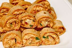 Chicken Enchilada Roll Ups - Don't even need to roll them in tortillas, the filling itself makes a great dip!