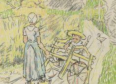 Johannes Theodorus 'Jan' Toorop (Poerworedjo (Nederlands-Indië) 1858-1928 Den Haag) Zeeuwse kinderen - Kunsthandel Simonis en Buunk, Ede (Nederland).