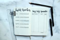 Beginnen met een bullet journal. Habit tracker en spending log Nederlands #habittracker #bulletjournal