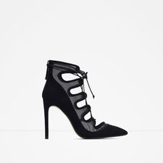 LACE-UP HEELED SHOES WITH MESH DETAIL-View all-Shoes-WOMAN | ZARA United States