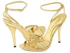 Gold Sandal Stillettos