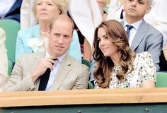 The Duke and Duchess of Cambridge attend the Men's Final of the Wimbledon Tennis Championships between Milos Raonic and Andy Murray at Wimbledon on July 10, 2016 in London, England.