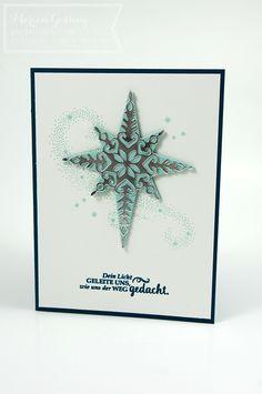 Stampin' Up, Weihnachtsstern, Star of Light, Weihnachtskarte