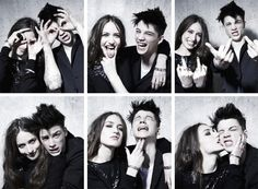 Ash Stymest & Lizzy Jagger by Sune Czajkowski for Eleven Paris Fall 2010 Goofy Couples, Cute Couples Goals, Couple Goals, Couple Posing, Couple Photos, Ash Stymest, Georgia May Jagger, Marlon Teixeira, The Fashionisto