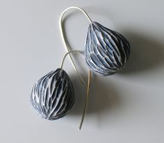 Jibby Juna - Carved pods in pale blue
