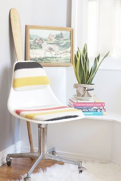 Recovered Mid Century Burke Chair - Hello Lidy