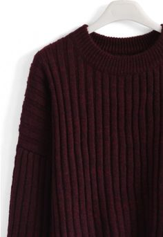This chunky ribbed sweater is the perfect staple piece to mix and match with your winter wardrobe! Its loose silhouette makes it warm, comfy and prime for stylish layering.  - Chunky ribbed knit - Drop shoulder design - 35% wool, 65% Acrylic - Hand wash cold   Size(cm)   Length   Bust   Shoulder   Sleeve S/M             62        126      Free         50 Size(inch) Length   Bust   Shoulder   Sleeve S/M             24.5     49.5     Free          19.5  * S/M  fits for US2-6 UK6-10 EU34-38…