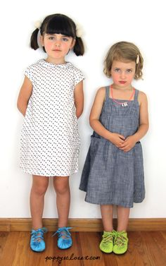 Poppy & Lil Sis' wearing Mabo Dresses, Lil Fut Django Mocs, Zuzii Accessories and Nellsytella Necklace from PoppysCloset.com #kids
