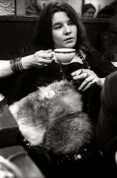 Janis Joplin at Ratner´s restaurant after a Fillmore East Gig in New York City, 1968
