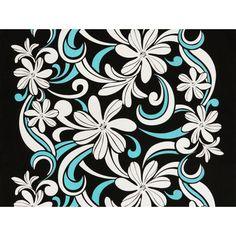 ハワイアン生地(ファブリック) XYZ-10-584 【ティアレスクロール】 ブラック Hula, Tapestry, Kids Rugs, Home Decor, Hanging Tapestry, Tapestries, Decoration Home, Kid Friendly Rugs, Room Decor