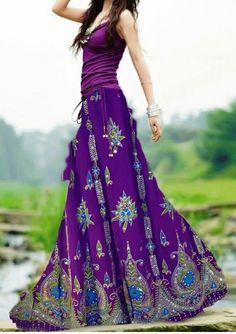 Unique Look Casual Style - Boho chic - Jupe Gypsy Style, Bohemian Style, Boho Chic, Boho Gypsy, Hippie Style, Casual Chic, Women's Fashion Dresses, Boho Fashion, Maxi Dresses