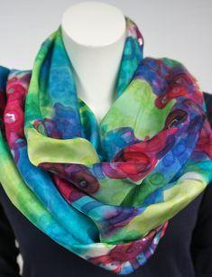 Silk Scarves, Womens Scarves, Shawl, Women's Fashion, Wool, Medium, Handmade, Etsy, Products