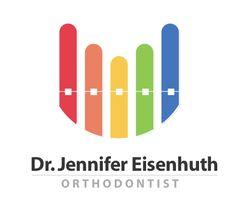 Conceptual logo for an orthodontist Dental Logo, Logo Design, Graphic Design, Death Star, Pediatrics, Dentistry, Teeth, Digital Marketing, Campaign