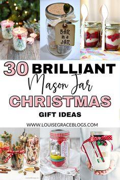 Mason Jar Christmas Gifts, Teenage Girl Gifts Christmas, Diy Holiday Gifts, Christmas Crafts For Gifts, Mason Jar Gifts, Mason Jar Candles, Mason Jar Diy, Christmas Ideas, Christmas Christmas