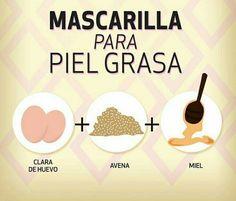 Mascarilla para piel grasa Mask for oily skin Beauty Tips For Face, Health And Beauty Tips, Beauty Secrets, Health Tips, Beauty Products, Beauty Care, Diy Beauty, Beauty Skin, Beauty Hacks
