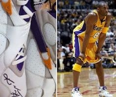 c15298f1c8027e Here is new images from a of Air Jordan VIII – Kobe Bryant Autographed PE  Sneakers he wore years ago