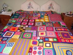 Large Patchwork Crochet Blanket by BettyButtonsDesign on Etsy, £1000.00