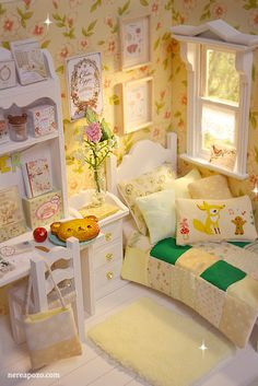 SUMMER BOUQUET Bedroom diorama