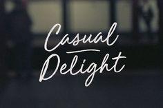Ad: Hand lettered script font -  Casual Delight + Bonus Font by BLKBK on @creativemarket $30